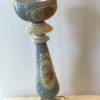 Vintage ceramic and brass lamp