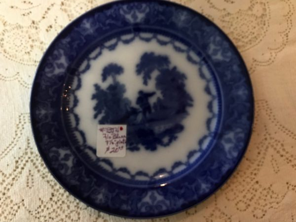 7 1/2 inch Flo Blue desert plate
