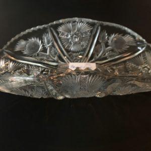 10 x 5 inch folded glass dish