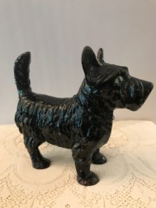 Heavy wrought iron dog