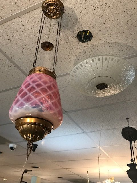 Oil Lamp hanging c1900,