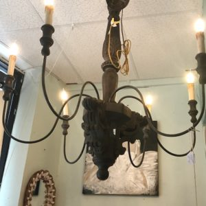 Black Country French Large Chandelier